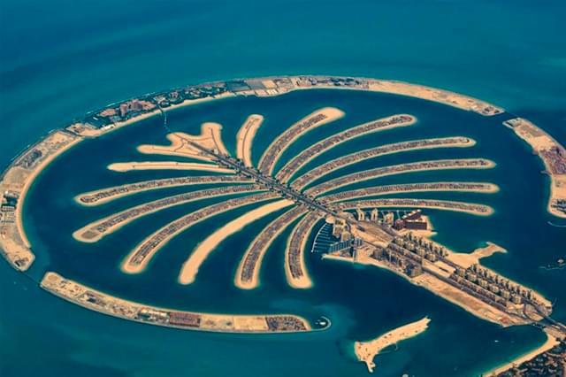 Construção das ilhas artificiais em Dubai